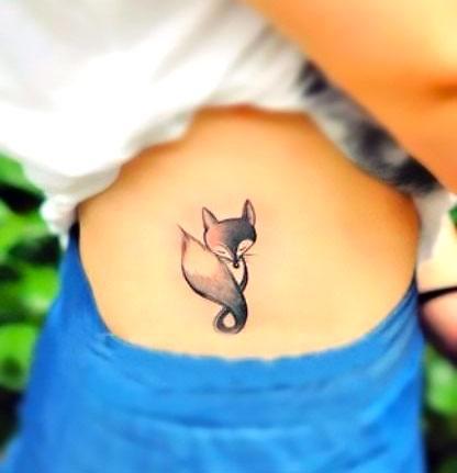 Black and Gray Fox Tattoo Idea