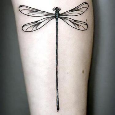 Black Dragonfly Tattoo