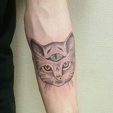 Three-Eyed Cat Tattoo