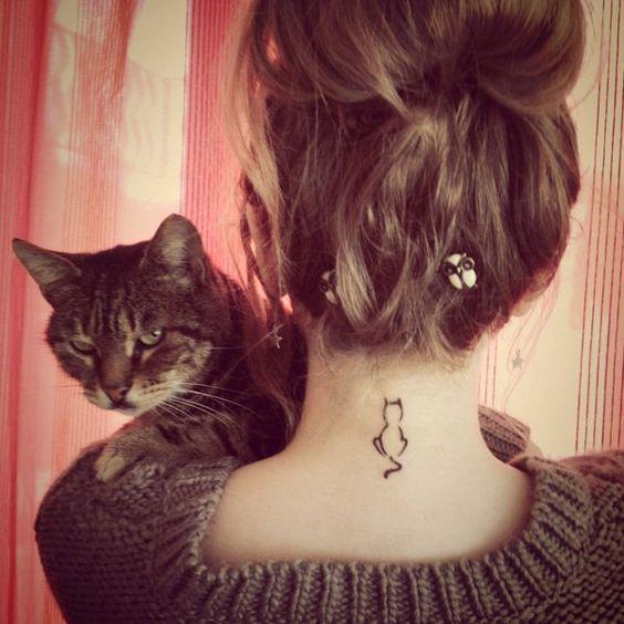 Tiny Cat Tattoo Idea
