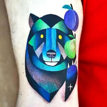 Blue Bear Tattoo