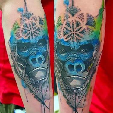 Blue Gorilla Tattoo