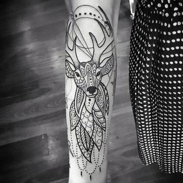 Boho Dear Tattoo