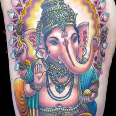 Beautiful Buddhist Elephant Tattoo
