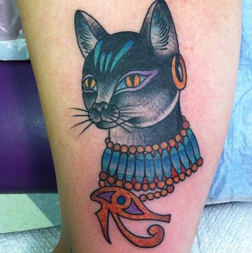 Egyptian Feline Tattoo Idea