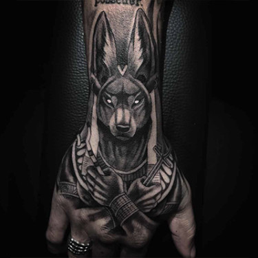 Anubis – The Egyptian God Of The Dead Tattoo