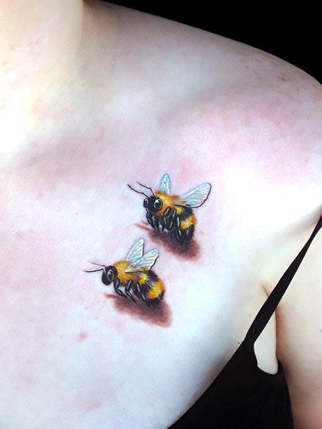 Bumble Bees Tattoo Idea