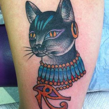Egyptian Feline Tattoo