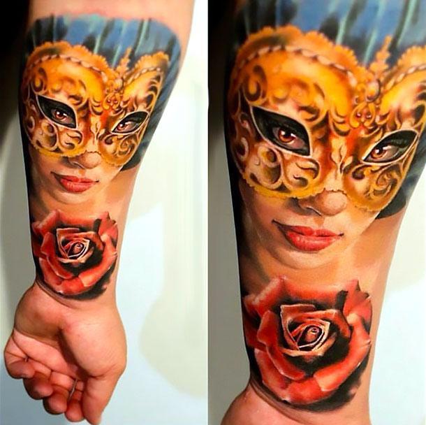 Bright Orange Tattoo Idea