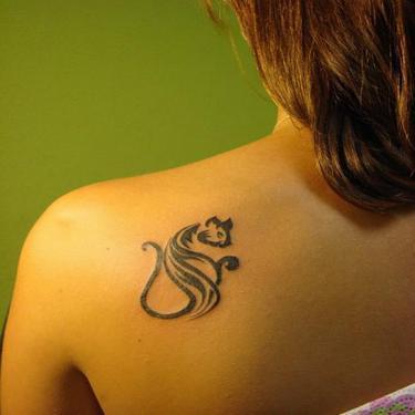 Small Tribal Cat Tattoo Idea
