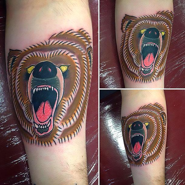 Brown Bear Tattoo Idea