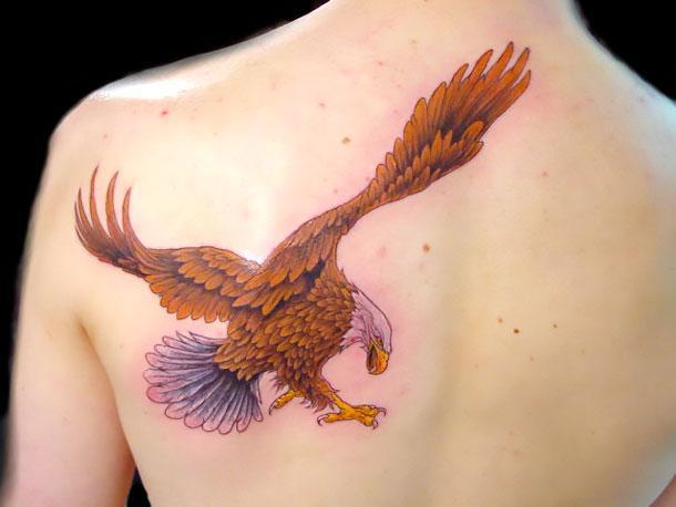 Brown Eagle Tattoo Idea