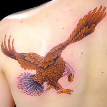 Brown Eagle Tattoo
