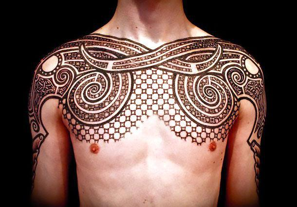 Brown Ink Tribal Tattoo Idea