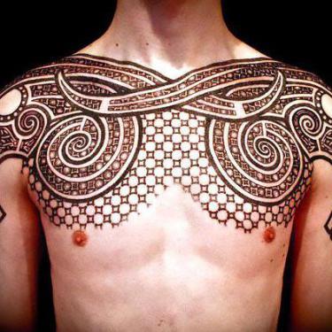 Brown Ink Tribal Tattoo