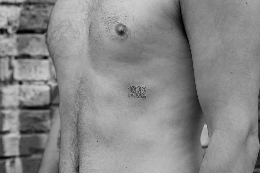Number For Men Tattoo Idea