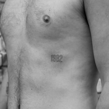 Number For Men Tattoo