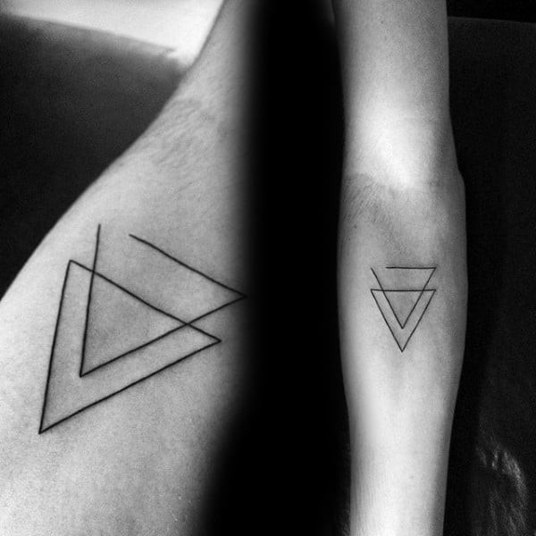 Double Triangle Minimalist Tattoo Idea