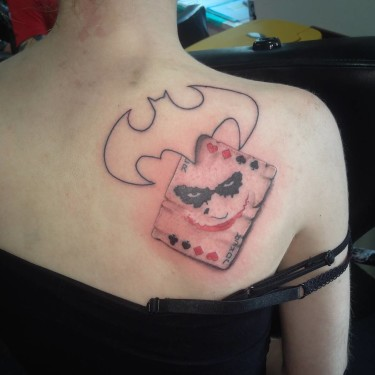 Simple Joker Card Tattoo