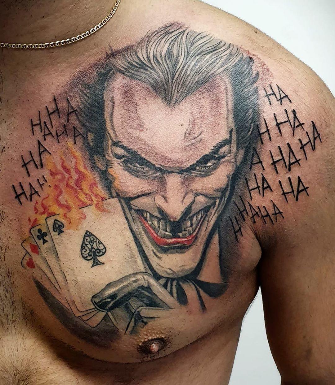 Leering Joker Tattoo Idea