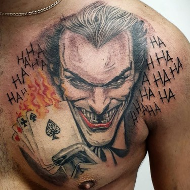 Leering Joker Tattoo