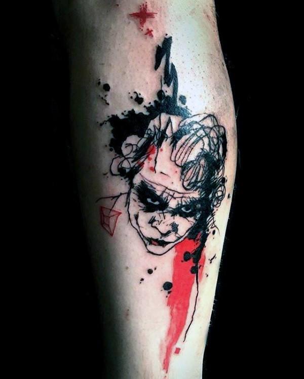 Black Joker Tattoo Idea