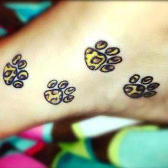 Cheetah Paws on Foot Tattoo