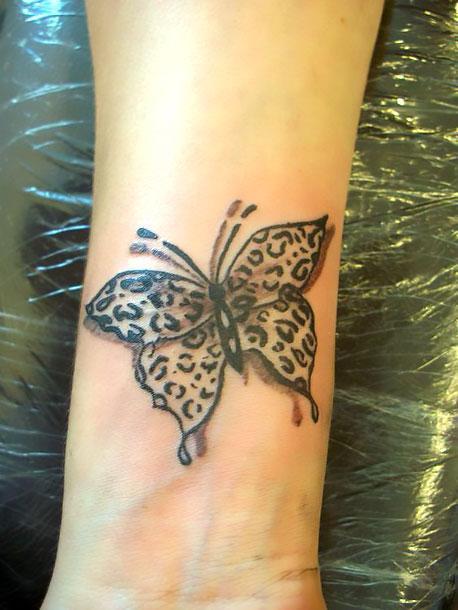 Cheetah Print Butterfly Tattoo Idea
