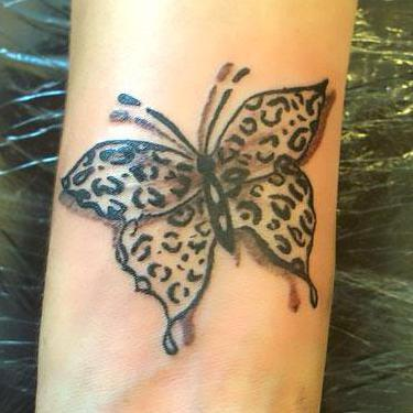 Cheetah Print Butterfly Tattoo