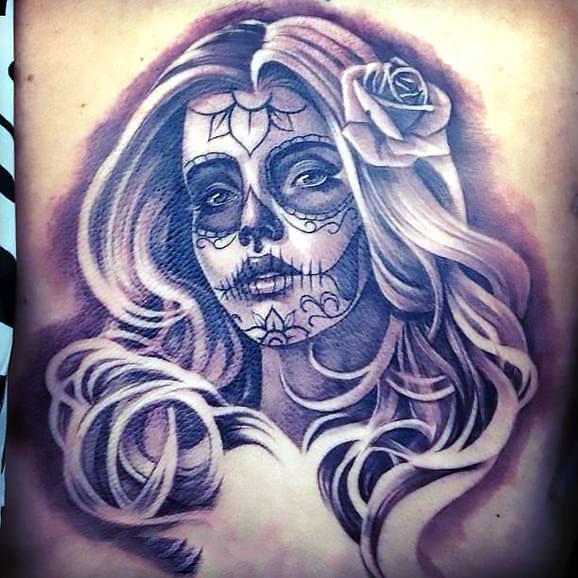 Chicano Blond Girl Tattoo Idea