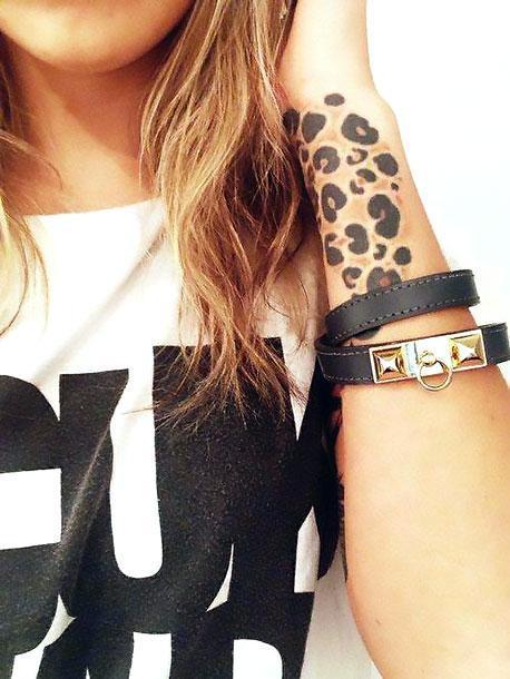 Cheetah Print on Wrist Tattoo Idea
