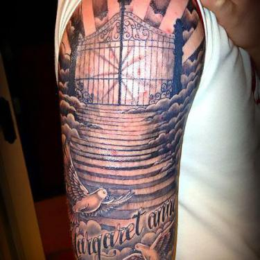 Christian Half Sleeve Tattoo