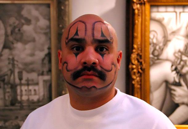 Clown Face Tattoo Idea