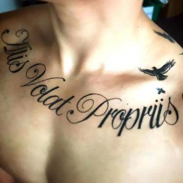 Collar Bone Tattoo for Men Tattoo