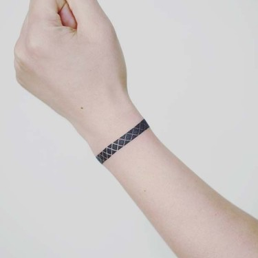 Simple Wrist Bracelet Tattoo