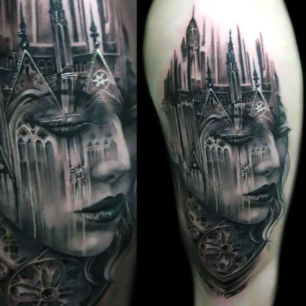 Cool Black and Gray Tattoo Art Tattoo Idea