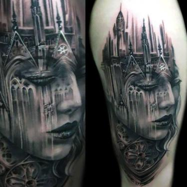 Cool Black and Gray Tattoo Art Tattoo