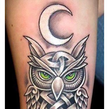 Cool Celtic Owl Tattoo