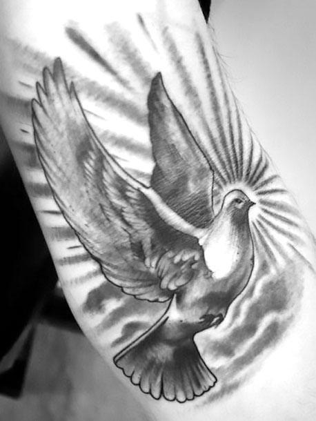Cool Dove Tattoo Idea