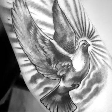 Cool Dove Tattoo
