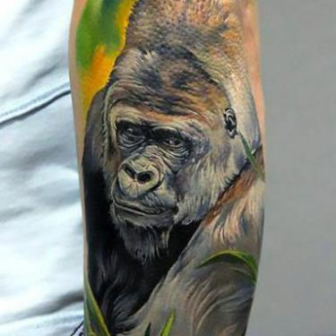 Colorful Gorilla Tattoo