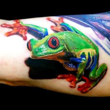 Colorful Tree Frog Tattoo