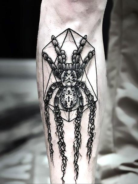 Cool Black Spider Tattoo Idea