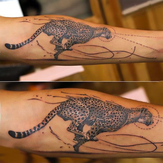 Cool Cheetah Tattoo Idea