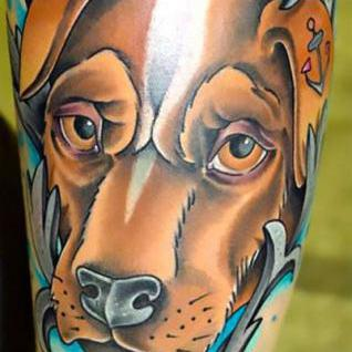 Cool Dog Portrait Tattoo