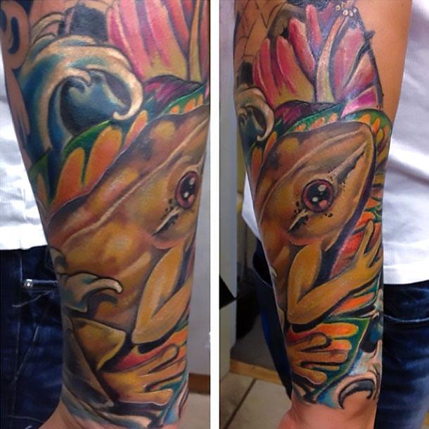 Coqui Frog Tattoo Idea
