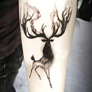Cruel Deer for Men Tattoo