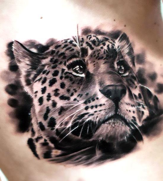 Cute Cheetah Tattoo Idea