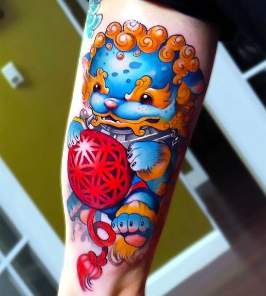 Cute Foo Dog Tattoo Idea