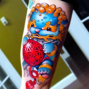 Cute Foo Dog Tattoo